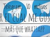 Telegram, motivos porque gusta WhatsApp