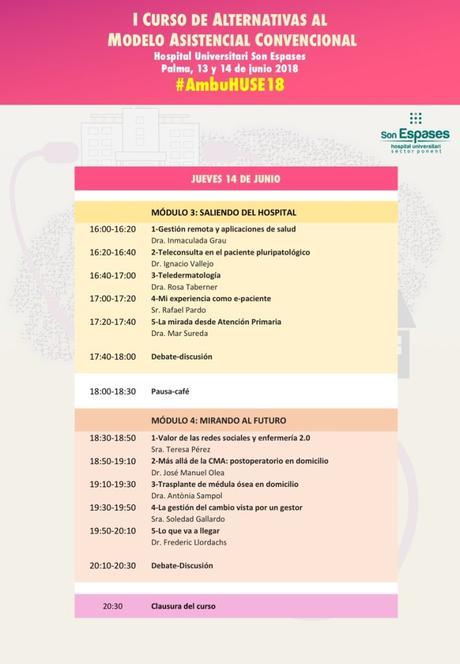 I Curso de alternativas al modelo asistencial convencional #AmbuHUSE18