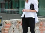 camisa blanca pantalon negro, look noche
