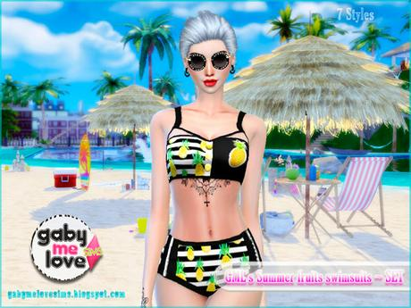 GML's Summer fruits swimsuits ~ Pineapple - Gabymelove Sims