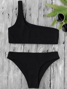 Conjunto de bikini de un solo hombro