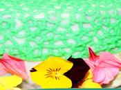 Pastel cumpleaños cobertura espejo, crema pastelera flores {tarta primaveral cumpleaños}