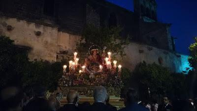 Representación de nuestra hermandad en la procesión de la Divina Pastora de San Dionisio (Jerez de la Frontera)