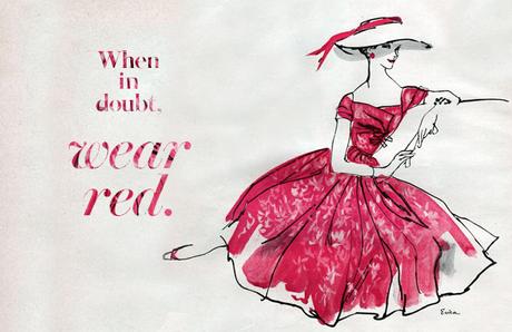 When In Doubt, Wear Red - Zaful