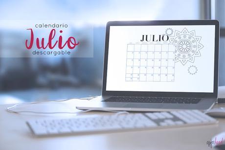 Freebie: Calendario Julio