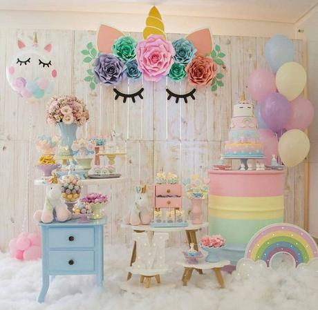 mesa dulce de unicornios