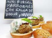Miniburgers marroquíes salsa yogur harissa