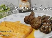 Alcachofas confitadas, mayonesa aceite alcachofa crema aprovechamiento