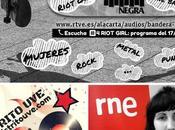 Riot girl disponible bandera negra (radio