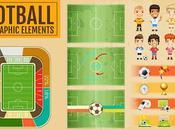 Pack Archivos Vectores Fútbol Ideales para Infografías