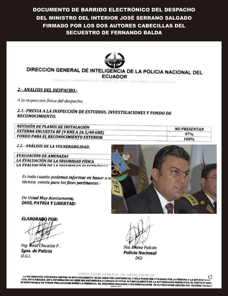 Pruebas del secuestro de Fernando Balda