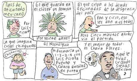 Tipos de aficionado mexicano (Historieta)