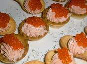 Petit fours crema salmón vodka pimienta rosa