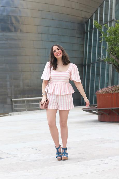 Verano con conjunto rosa de Zara