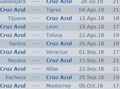 Calendario Cruz Azul torneo apertura 2018