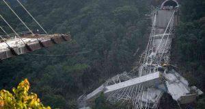 Así fue la implosión del puente Chirajara