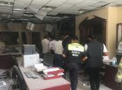 Explosión provocada parte exterior juzgados.