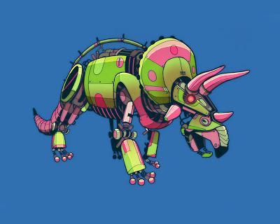 Los robosaurios de Jason Gamber