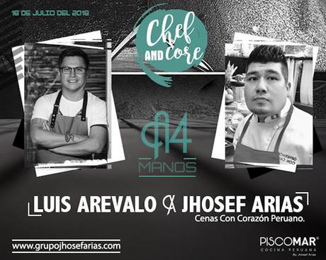 Menú degustación a cuatro manos de Luis Arévalo y Jhosef Arias en Piscomar