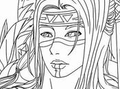 Luxury Native American Warrior Coloring Pages
