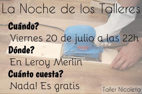 TALLERES DE DIY Y BRICOLAJE EN LEROY MERLIN