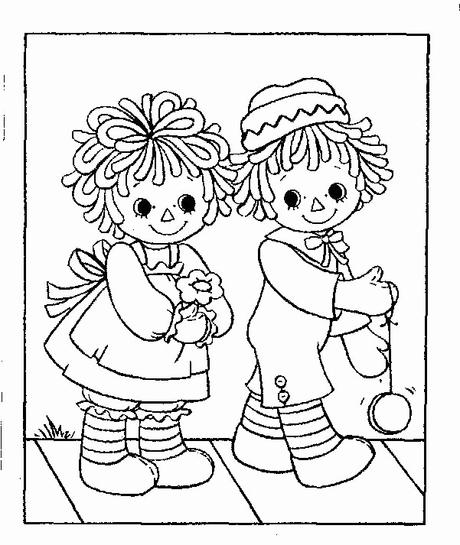 14 Best Raggedy Ann And Andy Coloring Pages for Kids - Updated 2018 | 545x460