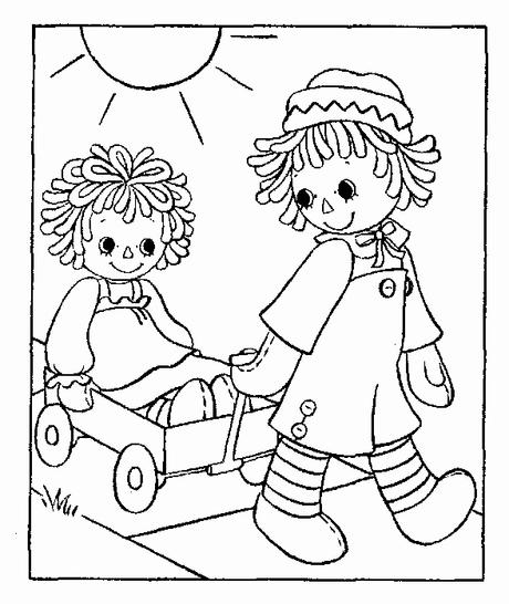 - Beautiful Raggedy Ann Coloring Page - Paperblog