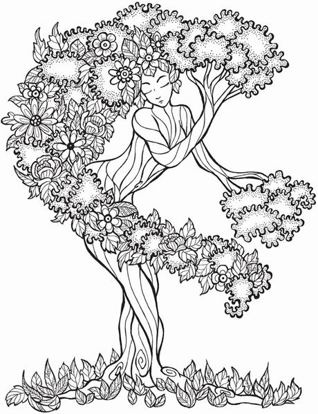 Awesome Coloring Picture Of A Tree