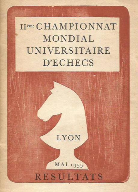Portada del libro del II Campeonato Mundial Universitario de Ajedrez Lyon 1955