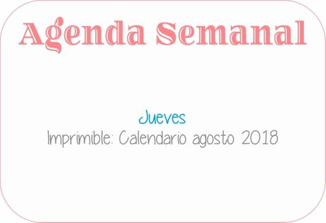 Agenda Semanal 23/07 -29/07