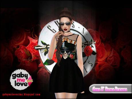 Guns N' Roses Dresses (Sims 4) - Gabymelove Sims