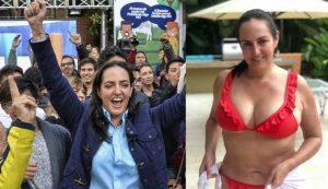 María Fernanda Cabal en bikini