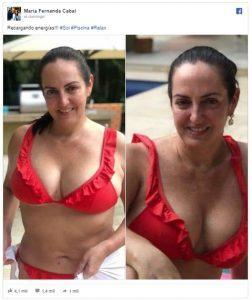 María Fernanda Cabal en bikini alboroto en las redes sociales