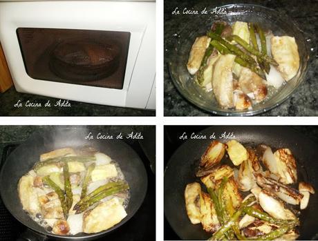 Verduras  en  el  microondas