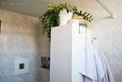Renovación baño sin obras + estante pared DIY