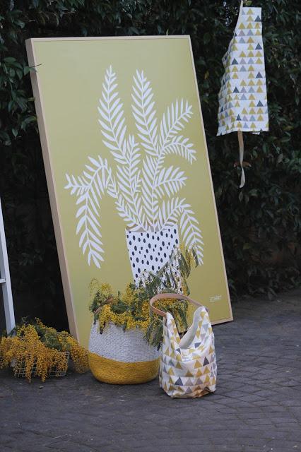 Blanca Echart, telas resinadas.