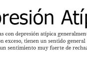 Depresión atípica