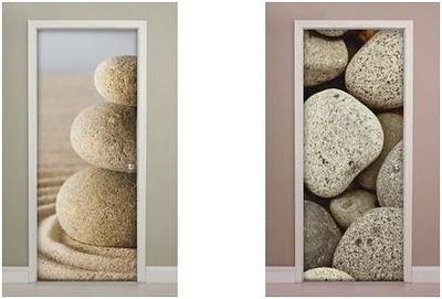 decorar puertas con vinilos adhesivos