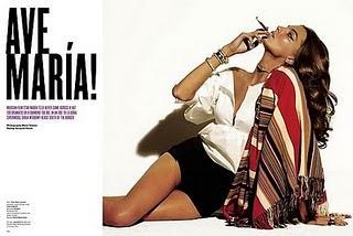 Daría Werbowy, caracterizada por Mario Testino como María Félix,  para V Magazine