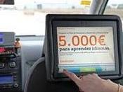 Publicidad interactiva interior taxis Bankinter