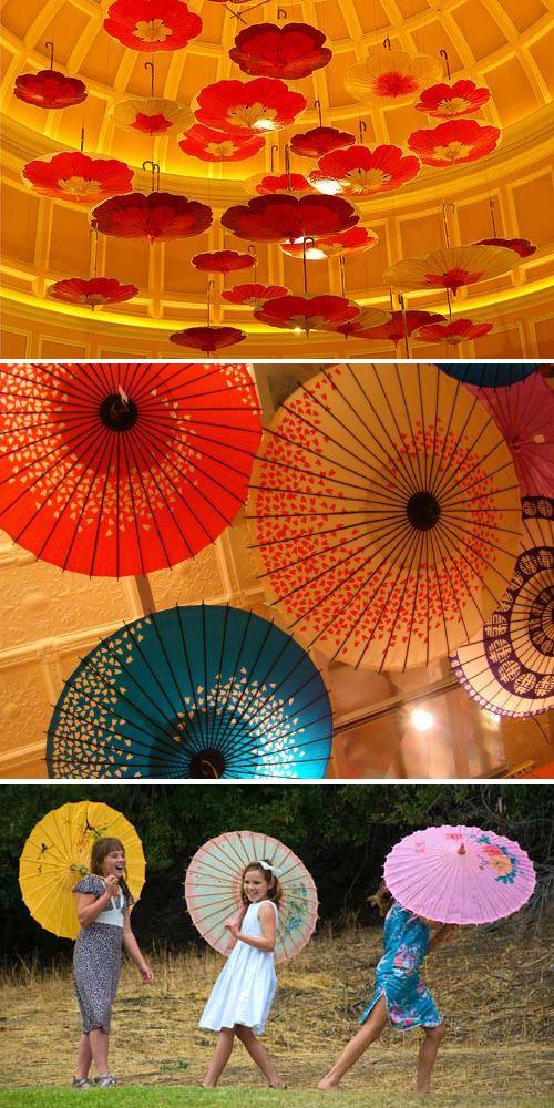 decorar el techo con sombrillas chinas paperblog