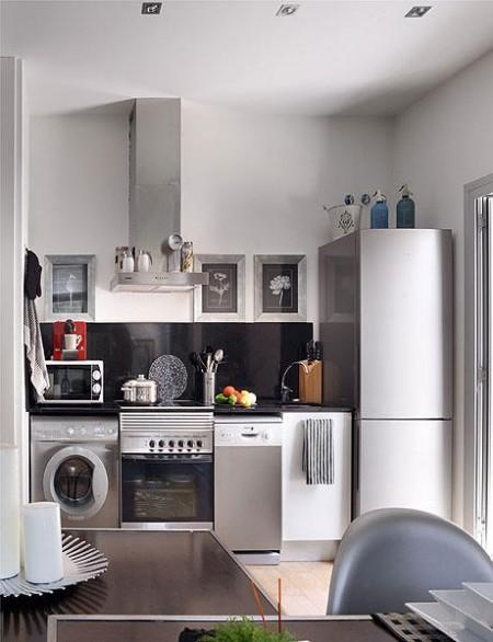 48m elegantes y confortables en gris paperblog - Mini apartamentos ...