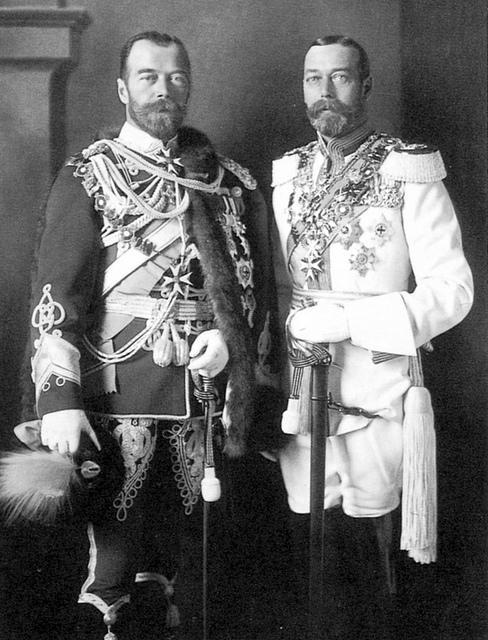 El zar y el rey de Inglaterra primos idénticos