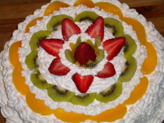 Pasteles decorados de frutas - Imagui