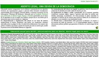 Aborto Legal; una deuda de la democracia