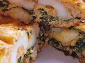 Tortilla calamares espinacas
