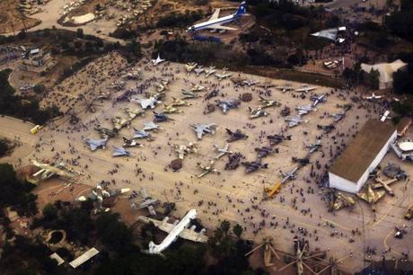 Vista del Museo de la Fuerza Aérea de Israel en Beerseba durante las demostraciones aéreas del 66º aniversario de Israel en mayo de 2014.