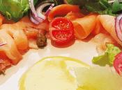Ensalada fresca salmón ahumado
