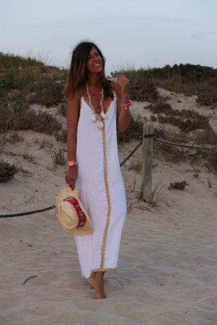 estilo playa vestido blanco 1