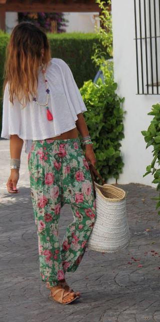 estilo playa pantalones